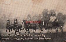 CHAMPIONS OF THE WORLD, owned by Morris & Co. Packers & Provisioners, horses