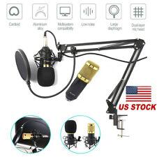 Bm-800 Studio Condenser Microphone Kit For Recording Broadcasting Shock Mount Us