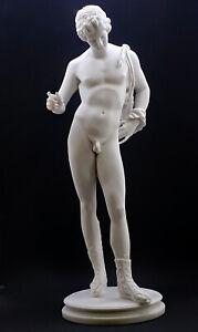 Narcissus Nude Male Art Greek Mythology Statue Sculpture Cast Marble Museum Copy