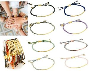 NEW GORJANA Power Gemstone Beaded Friendship  Bracelet Gold Silver Many