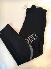 Victoria's Secret PINK ULTIMATE MESH HIGH WAIST ANKLE LEGGING Size S Black NEW!
