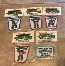 Vintage TMNT Teenage Mutant Ninja Turtles Power Patch Iron On Complet Set 5 NEW