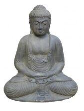 XL Buddha 52 cm Steinguss Gartendeko Japanischer Steinbuddha Statue