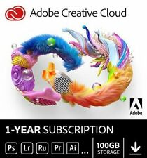 Adobe Creative Cloud | 1 Year | With 100GB | For Mac/PC