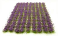 Purple flowers tufts x117 tufts - Self adhesive static model scenery