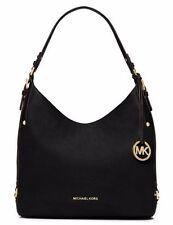 New Michael Kors Bedford Belted Large Shoulder Bag black soft venus leather tote