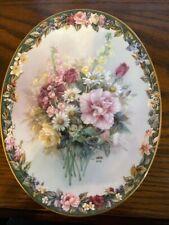 New ListingBradford Exchange Exquisite Lena Liu's Floral Cameos Collectible Plate 1997