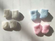 OOAK DOLL CLOTHES 1 PINK 1 BLUE 2 WHITE SOCKS HANDMADE FOR CRISS6CATS