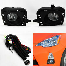 Clear Front Fog Lights Kit & Wiring Switch Pair for Toyota Prius C 2012-2014