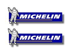 "2 MICHELIN MAN Vinyl 9"" Decals Tyres Pro4 Tires Power Winter Racing Stickers JDM"