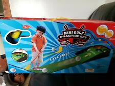 Mini Golf Childs Practice Golf Toy Set With Lights & Sounds New