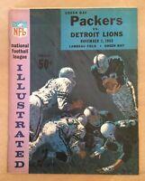 VINTAGE 1965 NFL DETROIT LIONS @ GREEN BAY PACKERS FOOTBALL PROGRAM - LAMBEAU