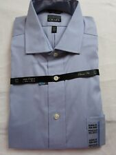 NWT Men's 16 1/2 36-37 Blue Classic Non Iron Button up front dress shirt CHAPS