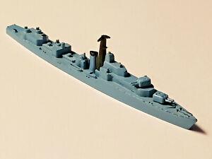 VTG TRI-ANG MINIC DIE-CAST 1:1200 M 780 HMS JUTLAND BATTLE-CLASS DESTROYER BLUE
