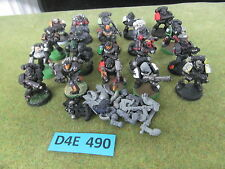 Warhammer 40K Space Marine army lot - 20 partially painted Tactical Troops i