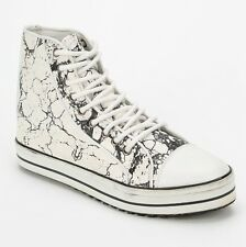NEW $220 Shakuhachi Marble Leather High Top Sneakers