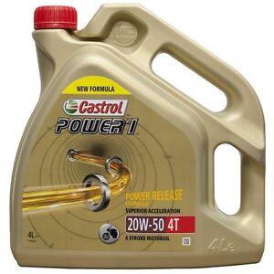 Aceite Castrol Power 1 4T   GP   20W-50   20W50   Moto   4 litros   ¡¡24h!!