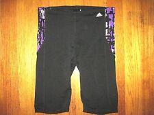 Men's Adidas AB Purple & Black Jammer Swim Shorts Infinitex Size 34 NWT