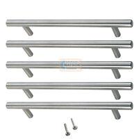 5 x 96mm Solid T BAR Handles Nickel Kitchen Bedroom Cabinet Door Cupboard Drawer