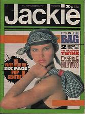 Jackie Magazine 25 August 1984 Issue 1077   Thompson Twins   Sade   Paul King