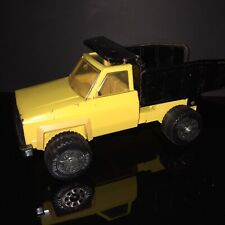 Vintage 1970's-80's Tonka Pressed Steel Yellow & Black Dump Truck Chevrolet