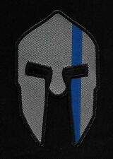 Spartan Crusader Thin Blue Line Law Enforcement Police EMT Biker Patch