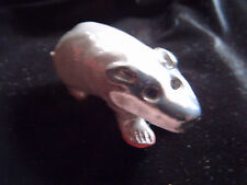 Cute little Ark Pottery ceramic badger ornament