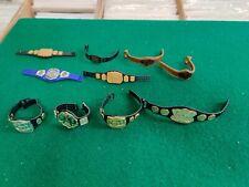 Lot of 10  Vintage WCW Wrestling Action Figure Belts WWF WWE