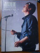 SPARTITO MUSICALE ZUCCHERO RISPETTO 1986 22 PAGINE INTERNO PERFETTO