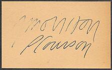 Jim Morrison & Pamela Courson Autograph Reprint On 1960s 3x5 Card The Doors
