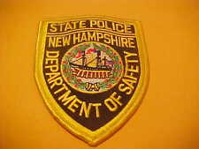 NEW HAMPSHIRE STATE POLICE PATCH SHOULDER SIZE NEW