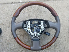 1999 2000 2001 02 03 Lexus RX300 Steering Wheel Gray Leather and Wood Used OEM