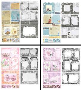 CRAFTY BITZ Cardstock Stickers + Transparencies CHOOSE Various LOVE or BEACH