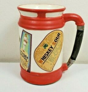 Vintage Shields 5th Ave Drink Recipe Mug Stein Made in Japan