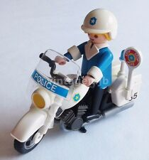 PLAYMOBIL VINTAGE 3564 MOTORCYCLE POLICEMAN SHIELD - EXTRA CLEAN - 100% COMPLETE