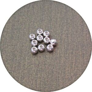 4mm 925 Sterling Silver Round Beads Perfect Spacer Bead Quality 3 pack sizes C16