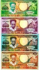 Suriname 4 Notes Uncirculated 25, 100, 250 & 500 Gulden