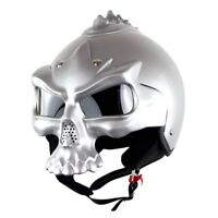 DOT Skull Motorcycle helmet Retro half face helmets Motorbike Motocross Capacete