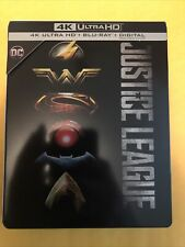 Justice League 4K + Blu-ray Steelbook.No Digital.see all auctions 4 combine ship