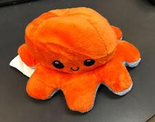 Reversible Flip Octopus Soft Plush Toy Stuffed Animal Stuffies - Blue/Orange
