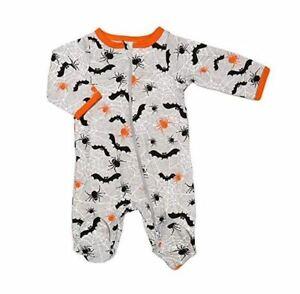 Celebrate Halloween Sleep and Play 3-6M Baby Boy Infant Spider Bat Pajama PJ