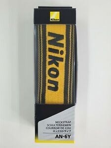 New Nikon AN-6Y Wide Nylon Neck Strap for Camera Neckstrap From JAPAN