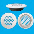 100x White Vivarium Reptile Push Fit Round 48mm Air Vents, 35mm Hole,Ventilation