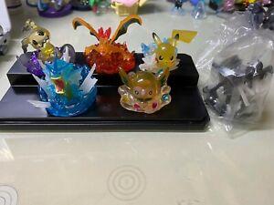 KIMEWAZA POKEMOTION Figure Charizard Pikachu Gyarados Rowlet Mimikyu