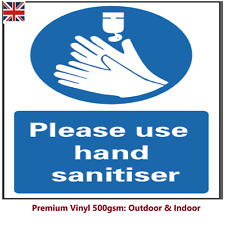 Please Sanitise Your Hands Sign Stickers Use Sanitizer Station Signage 19COVID