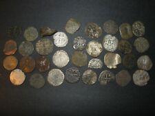 Medieval Silver Billon 34 Coins Lot 1100-1500's Crusader Templar Cross Ancient
