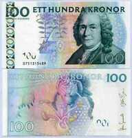 SWEDEN 100 KRONOR 2010 P 65 Sign Johan Gernandt Stefan Ingves UNC