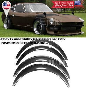 "1.75"" F 2.75"" R Carbon Effect Flexible 4 Pcs Wide Fender Flares For Mazda Subaru"
