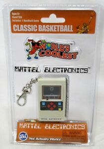 2016 Mattel Electronics Classic Basketball Handheld Game Keychain Works Sealed
