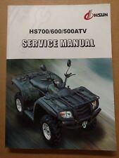 HS 500 700 ATV Service Manual HISUN + WIRING DIAGRAM Printed Book Copy